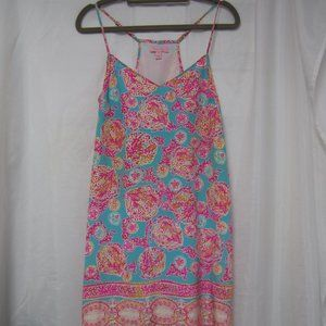 Lilly Pulitzer XS Dusk Dress Silk Coral Cove
